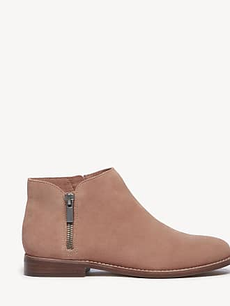 Sole Society Womens Bevlyn Zipper Bootie Antique Rose Size 11 Suede From Sole Society