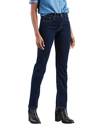 2b55f9979c6 Levi s Calça Jeans Levis Feminina 724 High Rise Straight Azul Escuro
