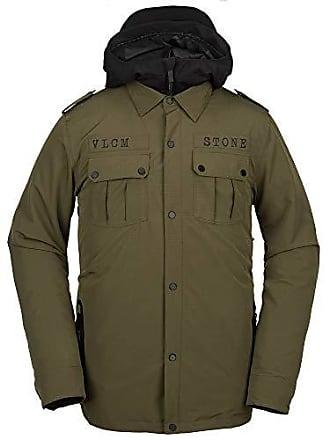 Volcom Mens Creedle2Stone Military Style Snow Jacket, Extra Large Black