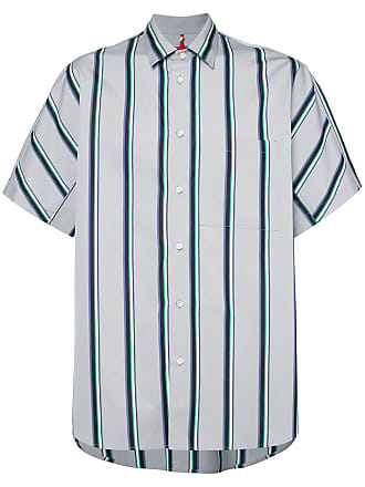 OAMC Camisa listrada mangas curtas - Verde