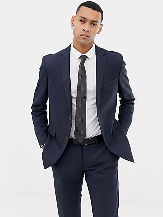 Esprit Veste de costume slim à fils torsadés - Bleu ... aaa39320de4