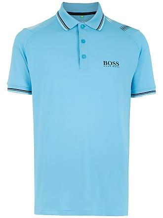 HUGO BOSS Camisa polo com logo - Azul