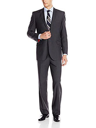 U.S.Polo Association Mens Nested Suit, Solid Grey b, 40 Short