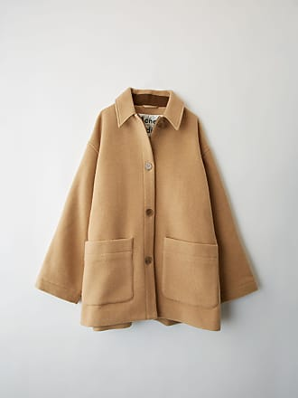 Acne Studios FN-WN-OUTW000053 Camel brown Short cocoon coat