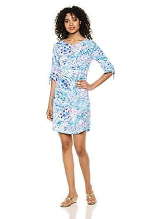 Lilly Pulitzer Womens Preston Dress, Breakwater Tint Party Wave, XS