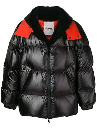 Yves Salomon - Army oversized shearling down jacket - Black