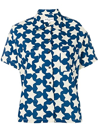 Ymc You Must Create Camisa mangas curtas com estampa de estrela - Azul