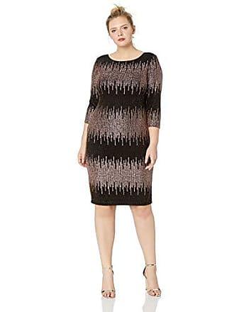 c9e9fa78f44 S.L. Fashions Womens Plus Size Sequin Lace Fit and Flare Dress