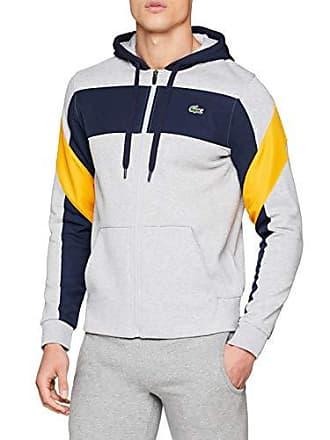 f30dd6f93c92 Lacoste Sport SH9496 Sweat-Shirt Homme Argenté (Argent Chiné Marine-Pomel  Enf