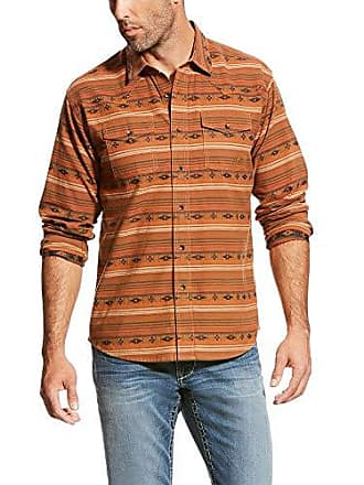 Ariat Mens Retro Fit Long Sleeve Snap Shirt, Wagnor Multi, XL
