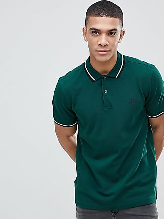 e900eefca4a0 Fred Perry twin tipped logo polo shirt in green Exclusive at ASOS