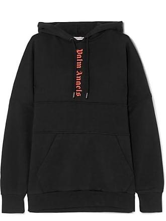 Palm Angels Printed Cotton-jersey Hoodie - Black