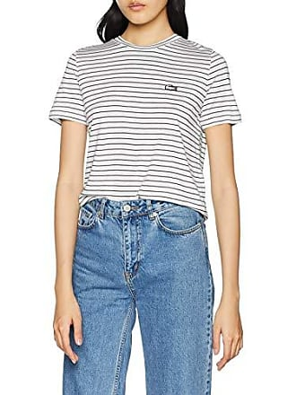 253afdd41e Lacoste TF6562 T-Shirt Femme Blanc (Farine/Marine Ev0) 34 (Taille