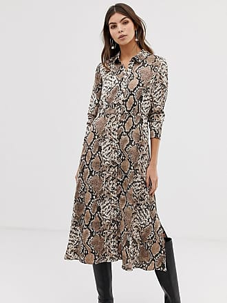 Y.A.S snake print midi shirt dress - Multi