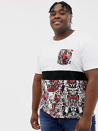 3b6e15744b6 Another Influence PLUS Contrast Panel Camo T-Shirt