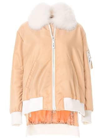 Yves Salomon - Army fox fur trim bomber jacket - Neutrals