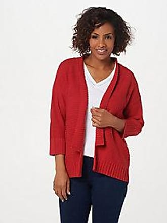 Halston Heritage Womens Long Sleeve Open Front Duster Cardigan with Sash
