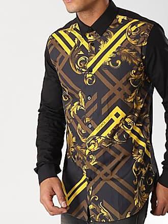 Versace Jeans Couture Chemise Manches Longues B1GSB6S2 Noir Doré 6da6be02be6