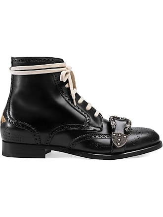 f32db866938 Gucci Black Queercore leather brogue boot