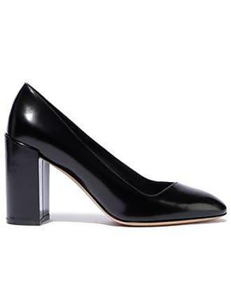 Salvatore Ferragamo Salvatore Ferragamo Woman Glossed-leather Pumps Black Size 5