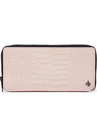 Rag & Bone Rag & Bone Woman Croc-effect Leather Continental Wallet Blush Size