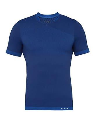 Falke Fitness Technical V Neck T Shirt - Mens - Blue