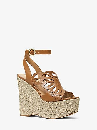 442b6341d17 Michael Kors Felicity Leather Butterfly Wedge
