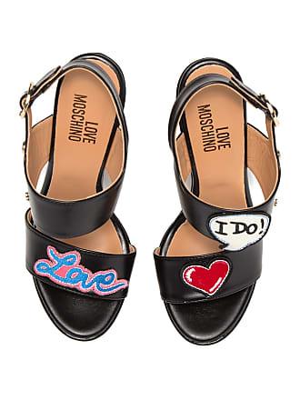 Love Moschino Patch Platform Wedge Sandal
