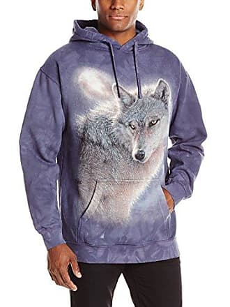 The Mountain Adventure Wolf Hoodie, X-Large, Blue