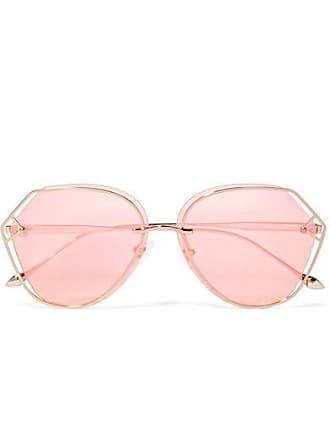 b711495d74 For Arts Sake Virgo Round-frame Gold-tone Sunglasses - Pink