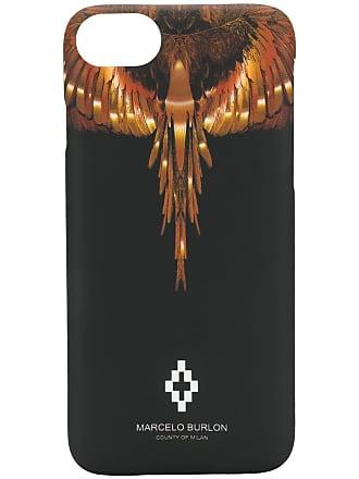 Marcelo Burlon Capa para iPhone 8 estampada - Preto