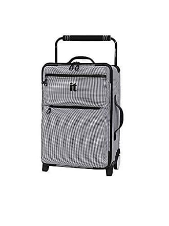 IT Luggage IT Luggage 21.8 Worlds Lightest Los Angeles 2 Wheel Carry On, Black/White