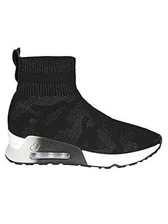 6b617e57a5e1 Ash Damen Lulucamo01 Schwarz Baumwolle Hi Top Sneakers