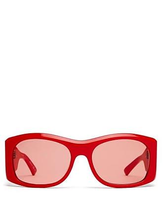 27379292bf607 Balenciaga Oversized Round Frame Acetate Sunglasses - Womens - Red