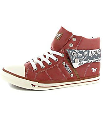 43bccfee66ff Mustang Shoes High Top Sneaker in Übergrößen Rot 1146-501-5 große  Damenschuhe,