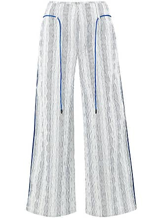 Quetsche striped cropped trousers - White