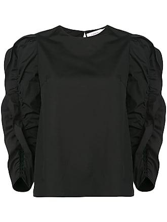 Carolina Herrera ruffle long-sleeve sweater - Black