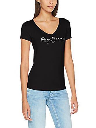 5883f1617b2 Pepe Jeans London BOBIE T-Shirt Femme Noir (Black) Small (Taille Fabricant