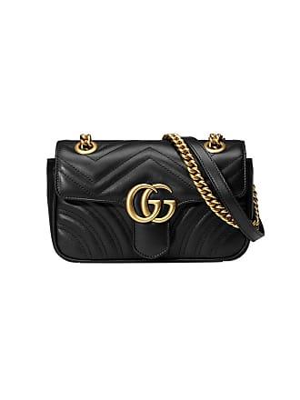 d671e8139 Gucci Bolsa tiracolo GG Marmont de couro - Preto