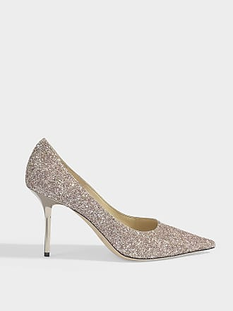 21bd5dc52c84 Jimmy Choo London Love 85 Glitter Pointed Pumps in Rosewood Mix Painted  Glitter Fabric