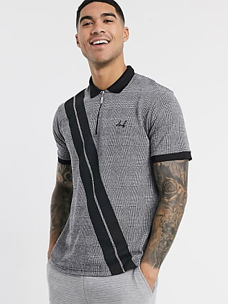 Burton Menswear MB collection polo in grey check