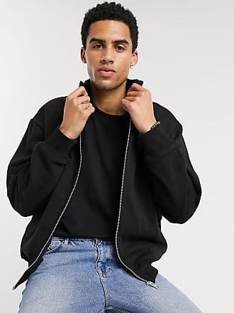 Weekday Otis - Sweatshirt mit Reißverschluss in Schwarz