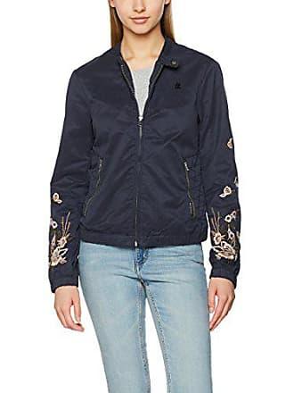 ea27c79cd9 Khujo Orianna Embroidery Jacket Blouson, Bleu (Dark Blue 405), 46 Femme