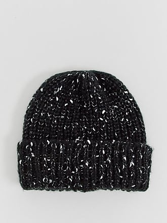 8c06051d18b Asos fisherman beanie in black with texture detail - Black