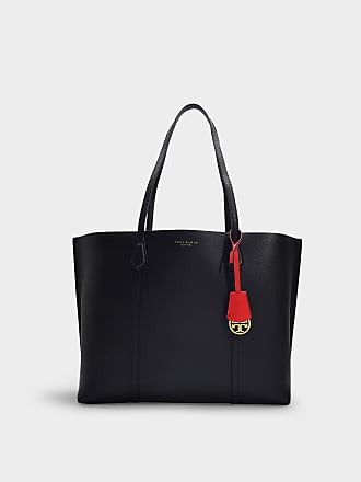 ef9420b7bc7 Tory Burch Perry Triple Compartment Tote in Black Calfskin