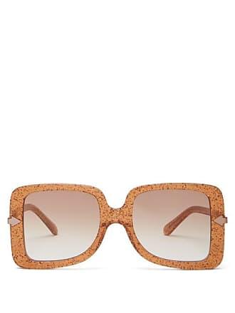 933c409f61 Karen Walker Eyewear Eden Supernova Glitter Oversized Sunglasses - Womens -  Dark Yellow