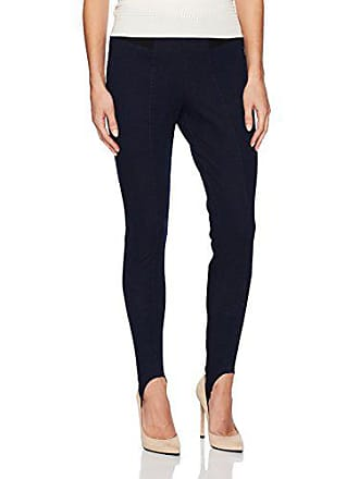 c7bb355e27926 Hue Womens Hi-Waist Denim Stirrup Leggings, Midnight Rinse, Extra Small