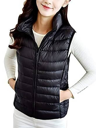 f127f6d5f81279 Saoye Fashion Daunenweste Damen Herbst Winter Ultraleichte Packbar  Daunenjacke Ärmellos Slim Fit Mit Reißverschluss Trendigen Kleidung