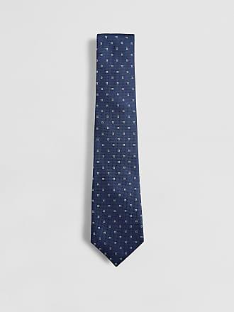 No.14 Savile Row Diamond Print Silk Tie   Navy/Green