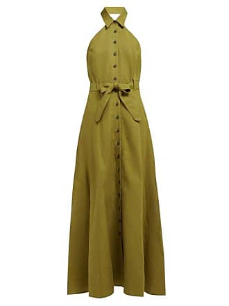 Mara Hoffman Rosemary Halterneck Canvas Dress - Womens - Green